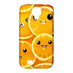 Cute Orange  Samsung Galaxy S4 Classic Hardshell Case (pc+silicone) by Brittlevirginclothing