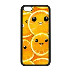 Cute Orange  Apple Iphone 5c Seamless Case (black) by Brittlevirginclothing