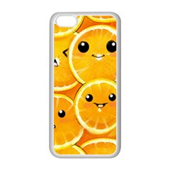 Cute Orange  Apple Iphone 5c Seamless Case (white) by Brittlevirginclothing