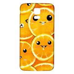 Cute Orange  Samsung Galaxy S5 Back Case (white) by Brittlevirginclothing