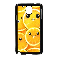 Cute Orange  Samsung Galaxy Note 3 Neo Hardshell Case (black) by Brittlevirginclothing