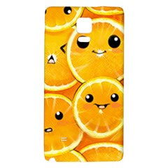 Cute Orange  Galaxy Note 4 Back Case by Brittlevirginclothing