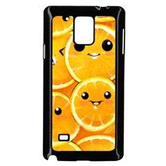 Cute Orange  Samsung Galaxy Note 4 Case (black) by Brittlevirginclothing