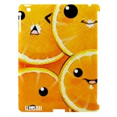 Cute Orange  Apple Ipad 3/4 Hardshell Case (compatible With Smart Cover) by Brittlevirginclothing