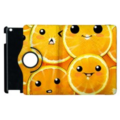 Cute Orange  Apple Ipad 2 Flip 360 Case by Brittlevirginclothing