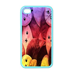 Cute Leaves Apple Iphone 4 Case (color) by Brittlevirginclothing