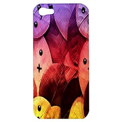 Cute Leaves Apple Iphone 5 Hardshell Case by Brittlevirginclothing