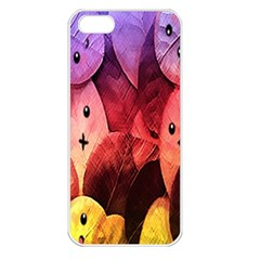 Cute Leaves Apple Iphone 5 Seamless Case (white) by Brittlevirginclothing