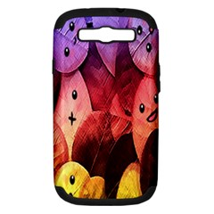 Cute Leaves Samsung Galaxy S Iii Hardshell Case (pc+silicone) by Brittlevirginclothing