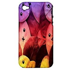 Cute Leaves Apple Iphone 4/4s Hardshell Case (pc+silicone) by Brittlevirginclothing