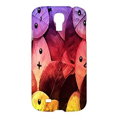 Cute Leaves Samsung Galaxy S4 I9500/i9505 Hardshell Case by Brittlevirginclothing