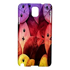 Cute Leaves Samsung Galaxy Note 3 N9005 Hardshell Case by Brittlevirginclothing