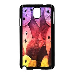Cute Leaves Samsung Galaxy Note 3 Neo Hardshell Case (black) by Brittlevirginclothing