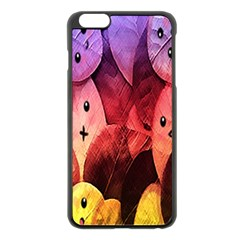 Cute Leaves Apple Iphone 6 Plus/6s Plus Black Enamel Case by Brittlevirginclothing
