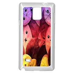 Cute Leaves Samsung Galaxy Note 4 Case (white) by Brittlevirginclothing