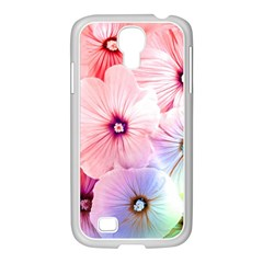 Rainbow Flower Samsung Galaxy S4 I9500/ I9505 Case (white) by Brittlevirginclothing