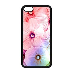 Rainbow Flower Apple Iphone 5c Seamless Case (black) by Brittlevirginclothing