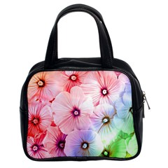 Rainbow Flower Classic Handbags (2 Sides) by Brittlevirginclothing