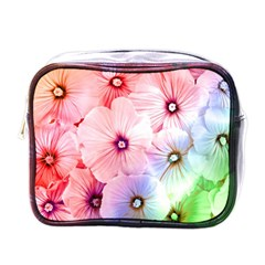 Rainbow Flower Mini Toiletries Bags by Brittlevirginclothing
