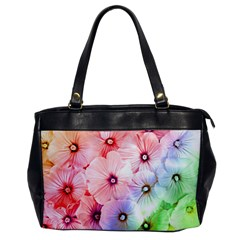 Rainbow Flower Office Handbags by Brittlevirginclothing