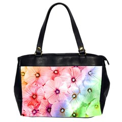 Rainbow Flower Office Handbags (2 Sides)  by Brittlevirginclothing