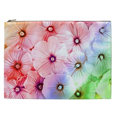 Rainbow Flower Cosmetic Bag (xxl)  by Brittlevirginclothing