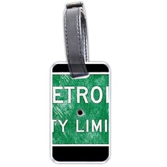 Detroit City Limits Luggage Tags (one Side)
