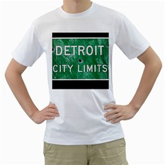 Detroit City Limits Men s T Shirt (white)