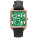 Detroit City Limits Rose Gold Leather Watch  Front
