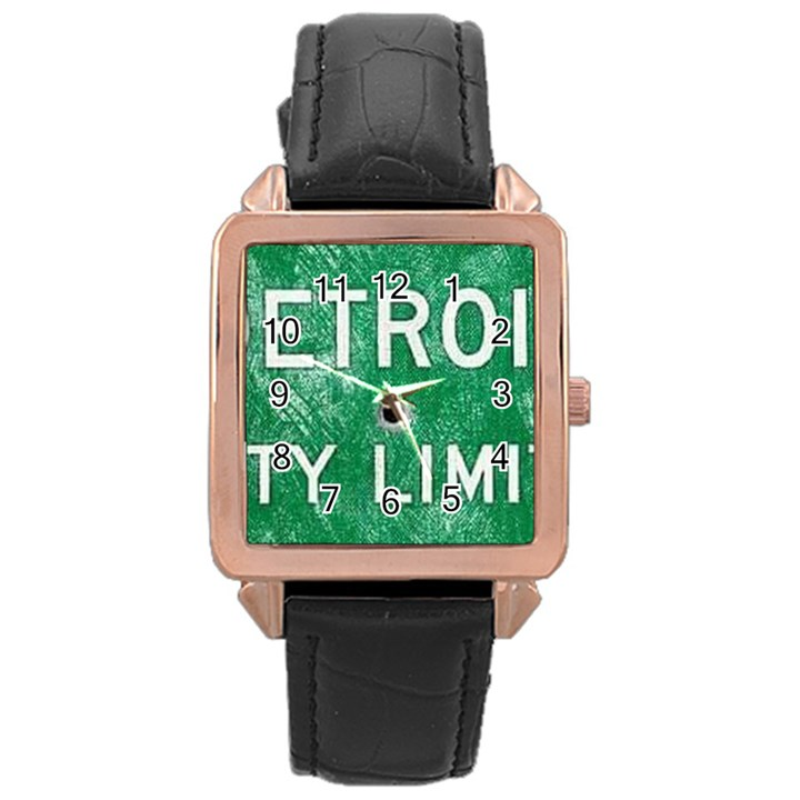 Detroit City Limits Rose Gold Leather Watch