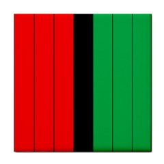 Kwanzaa Colors African American Red Black Green  Tile Coasters by yoursparklingshop