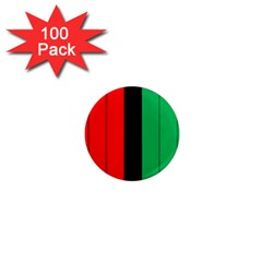 Kwanzaa Colors African American Red Black Green  1  Mini Magnets (100 Pack)  by yoursparklingshop