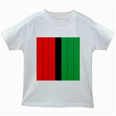 Kwanzaa Colors African American Red Black Green  Kids White T Shirts by yoursparklingshop