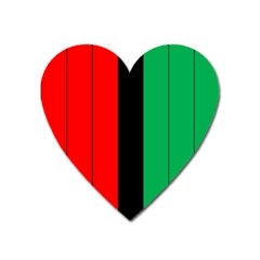 Kwanzaa Colors African American Red Black Green  Heart Magnet by yoursparklingshop