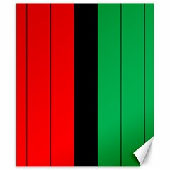 Kwanzaa Colors African American Red Black Green  Canvas 8  X 10  by yoursparklingshop