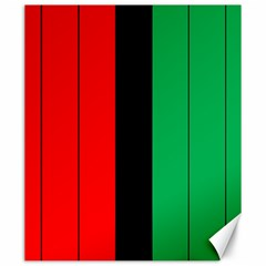 Kwanzaa Colors African American Red Black Green  Canvas 20  X 24   by yoursparklingshop