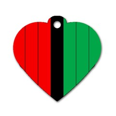 Kwanzaa Colors African American Red Black Green  Dog Tag Heart (two Sides) by yoursparklingshop