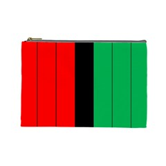 Kwanzaa Colors African American Red Black Green  Cosmetic Bag (large)  by yoursparklingshop