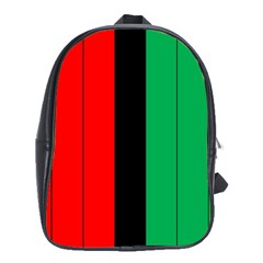 Kwanzaa Colors African American Red Black Green  School Bags(large)  by yoursparklingshop
