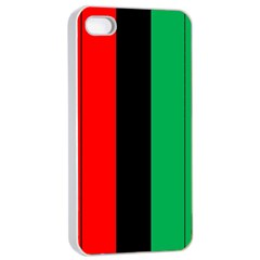 Kwanzaa Colors African American Red Black Green  Apple Iphone 4/4s Seamless Case (white) by yoursparklingshop