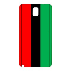 Kwanzaa Colors African American Red Black Green  Samsung Galaxy Note 3 N9005 Hardshell Back Case by yoursparklingshop
