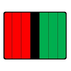 Kwanzaa Colors African American Red Black Green  Double Sided Fleece Blanket (small)  by yoursparklingshop