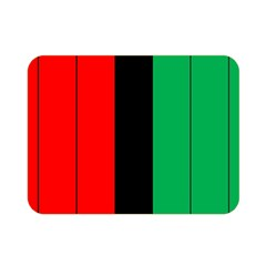 Kwanzaa Colors African American Red Black Green  Double Sided Flano Blanket (mini)  by yoursparklingshop