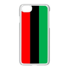 Kwanzaa Colors African American Red Black Green  Apple Iphone 7 Seamless Case (white)