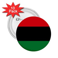 Pan African Unia Flag Colors Red Black Green Horizontal Stripes 2 25  Buttons (10 Pack)  by yoursparklingshop