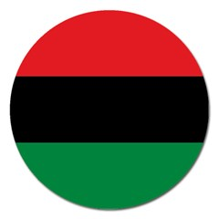 Pan African Unia Flag Colors Red Black Green Horizontal Stripes Magnet 5  (round) by yoursparklingshop