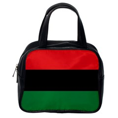 Pan African Unia Flag Colors Red Black Green Horizontal Stripes Classic Handbags (one Side) by yoursparklingshop