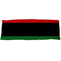 Pan African Unia Flag Colors Red Black Green Horizontal Stripes Body Pillow Case (dakimakura) by yoursparklingshop