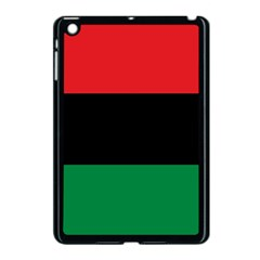 Pan African Unia Flag Colors Red Black Green Horizontal Stripes Apple Ipad Mini Case (black) by yoursparklingshop