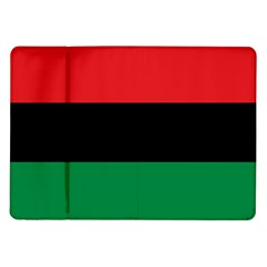 Pan African Unia Flag Colors Red Black Green Horizontal Stripes Samsung Galaxy Tab 10 1  P7500 Flip Case by yoursparklingshop